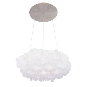 Fluffy Brushed Nickel LED Pendant