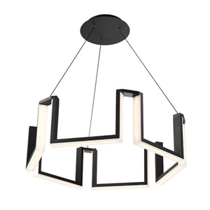 Gotham Black 28-Inch LED Chandelier