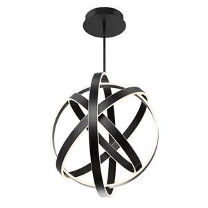 Kinetic Black 28-Inch LED Pendant