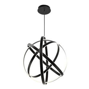 Kinetic Black 38-Inch LED Chandelier