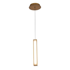 Chaos Aged Brass 14-Inch LED Mini Pendant