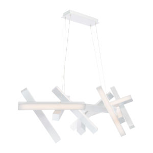 Chaos Brushed Aluminum 11-Light LED Chandelier