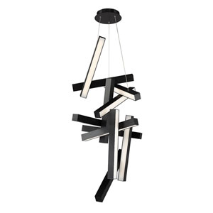 Chaos Black 25-Inch LED Chandelier