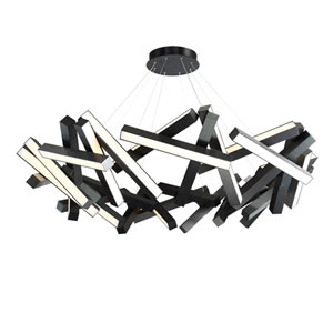 Chaos Black 61-Inch LED Chandelier