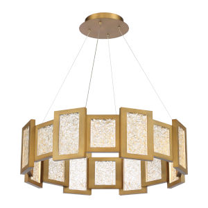 Fury Aged Brass 16-Light LED Chandelier
