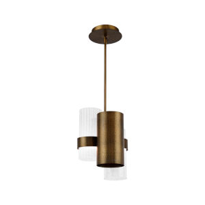 Harmony Aged Brass Three-Light LED Pendant