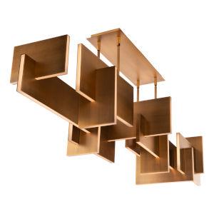 Amari Aged Brass LED Chandelier