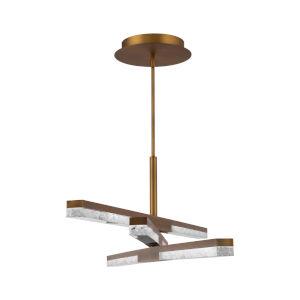 Minx Aged Brass Three-Light LED Chandelier