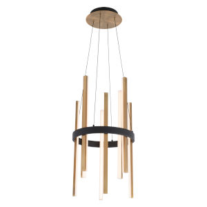Harmonix Black and Aged Brass LED Chandelier