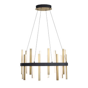 Harmonix Black Aged Brass 24-Inch LED  Chandelier