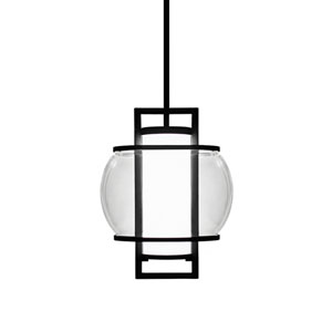 Lucid Black 11-Inch LED Outdoor Pendant