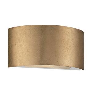 Vermeil Gold Leaf 10.5-Inch LED Wall Sconce