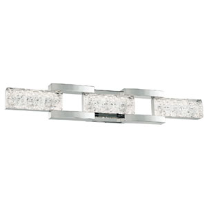 Sofia Polished Nickel 30-Inch LED Bath Light