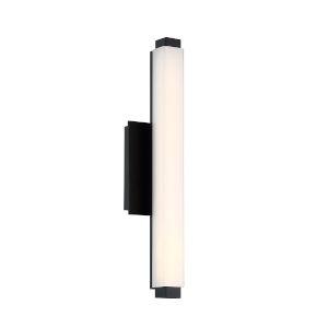 Mini Vogue Black 10W 3000K LED ADA Bath Bar
