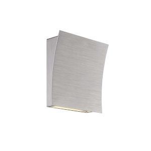 Slide Brushed Aluminum 3500K Two-Light ADA Wall Sconce