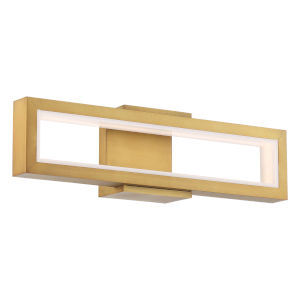 Mies Aged Brass 20-Inch LED Wall Sconce