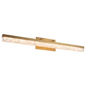 Minx Aged Brass 39-Inch LED Bath Vanity