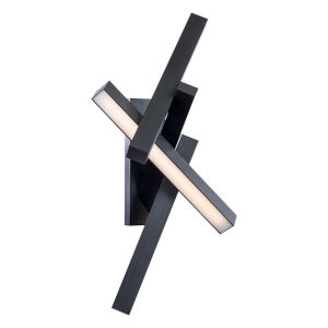 Chaos Black Four-Light LED Wall Sconce