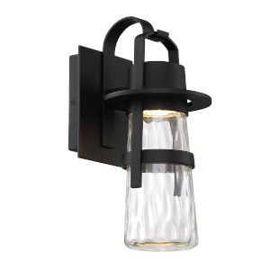 Balthus Black Seven-Inch LED  Outdoor Wall Light