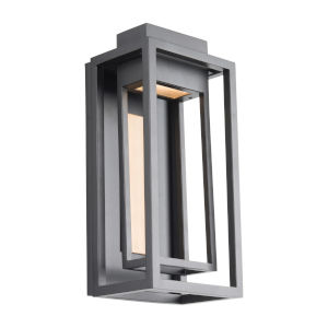 Dorne Black and Aged Brass 14-Inch LED Outdoor Wall Light