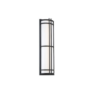 Skyscraper Black 12-Inch LED 2700K Outdoor Wall Light