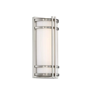 Skyscraper Stainless Steel 6-Inch LED Outdoor Wall Light