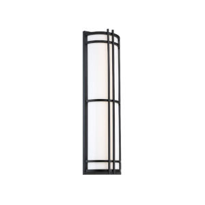 Skyscraper Black 18-Inch LED 2700K Outdoor Wall Light
