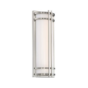 Skyscraper Stainless Steel 7-Inch LED Outdoor Wall Light