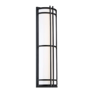 Skyscraper Black 27-Inch LED 3500K Outdoor Wall Light