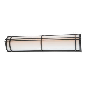 Skyscraper Black 37-Inch LED 2700K Outdoor Wall Light
