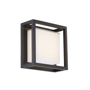 Framed Bronze 8-Inch LED Outdoor Wall Light