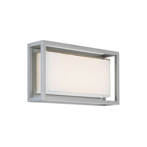 Framed Graphite 14-Inch LED Outdoor Wall Light