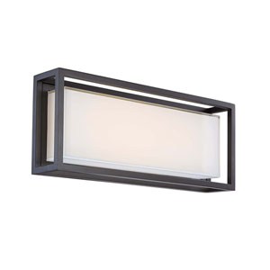 Framed Bronze 20-Inch LED Outdoor Wall Light