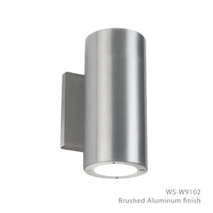 Vessel Brushed Aluminum 4-Inch 2700K Two-Light ADA Outdoor Wall Light