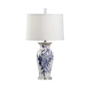Off White and Blue One-Light 5-Inch Ashley Ii Lamp