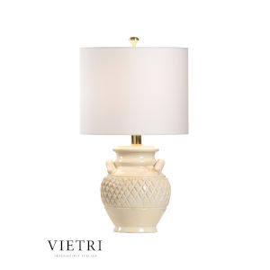 Cancello Cream and White One-Light Table Lamp
