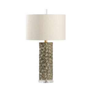 Light Gray One-Light 6-Inch Gator Lamp