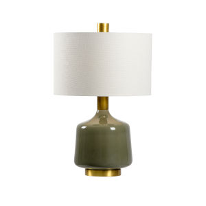 White and Gray One-Light 6-Inch Tremont Lamp