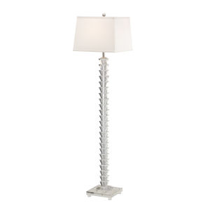 Silver One-Light 12-Inch Stacked Crystals Floor Lamp