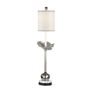 Silver One-Light 12-Inch Zoey Lamp