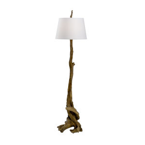 Brown and White One-Light 17-Inch Olmsted Floor Lamp