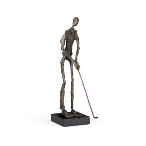 Gray 14-Inch Putting Golfer