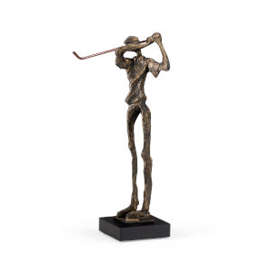 Gray 3-Inch Swinging Golfer