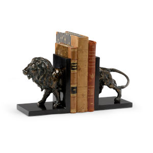 Black 5-Inch Lioncrest Bookends, Pair