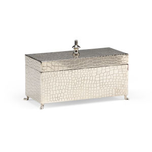 Silver 9-Inch Footed Box