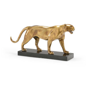 Gold 16-Inch Art Deco Tiger