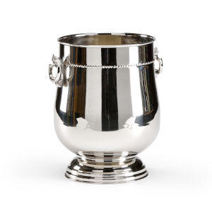 Silver 10-Inch Handled Wine Cooler