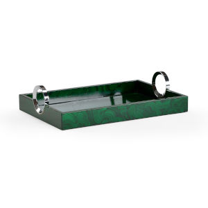 Green 18-Inch Malachite Tray