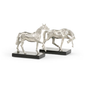 Silver 6-Inch Horses Pair
