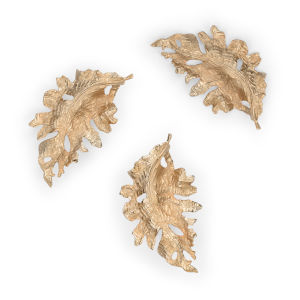 Gold 19-Inch Large Fallen Leaves, Set of 3